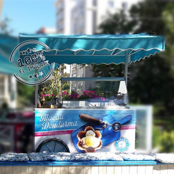 Alaçatı Muhallebicisi Dondurma Arabası
